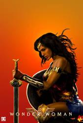 (Fanmade Poster) Wonder Woman 2018 by KeenbeetalART