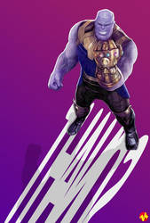 (Fanmade Poster) Thanos by KeenbeetalART