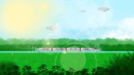 Train In Sunlight by SLywnow