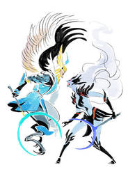 Dragonus + Shendelzare by hhhwei
