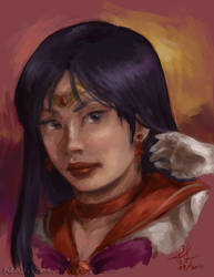 Portrait - Sailor Mars by Nendil