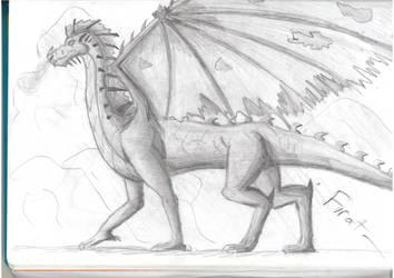 Graphite Dragon by C3H6N6O6