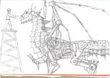 Mechanised Dragonpiece by C3H6N6O6