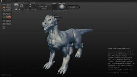 Ze Dragon Sculpture... by C3H6N6O6
