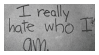 hate who i am | stamp by egraut