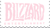 pink blizzard entertainment stamp by egraut