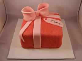 Mummy Present Cake by sparks1992