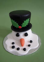 Mini Melting Snowman Cake by sparks1992
