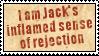 Jack's Sense of Rejection by obsidianstamps