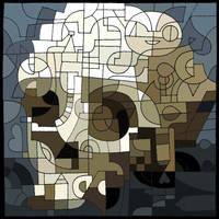 Skull - DA 16th Birthday! by MitchRoseArt