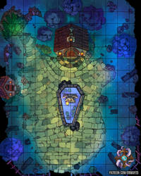 Mystical Graveyard Battle Map by Hassly