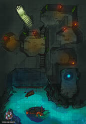 Dungeon And Cavern Battle Map by Hassly