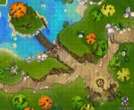 Campsite By The Lake Battle Map by Hassly