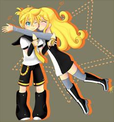 .:Comm:. Akari y Len by Kamelii