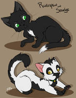 Ravenpaw and Smudge by Yolly-anda