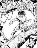 Tarzan pen and ink by hawk5