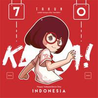 70 th Indonesia by kum---kum