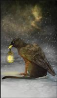 Gryphon Tarot - The Hermit by Bailiwick