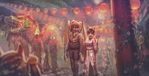 Chinese festival+VIDEO PROCESS of this commission by Y-GabyT