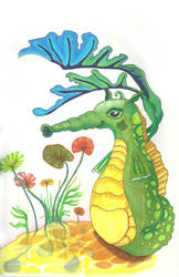 Shubie the Fairy Seahorse by Wolfke74