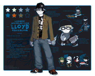 LLOYD ref sheet by PinkyFreak247