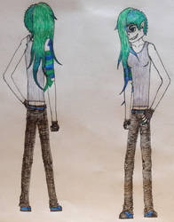 The green and blue girl by LordofZithier