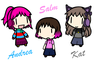 [Walfas]Andrea, Salm, Kat by tsunetake1012