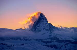 Matterhorn on Fire by orestART