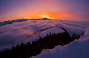 Sunset at Rigi by orestART