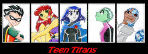 Teen Titans Group ...2 by Sheep-in-the-moon
