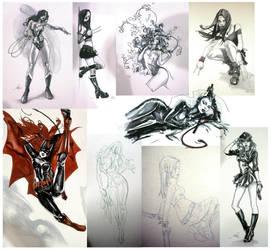 fanexpo sketches by ayanimeya