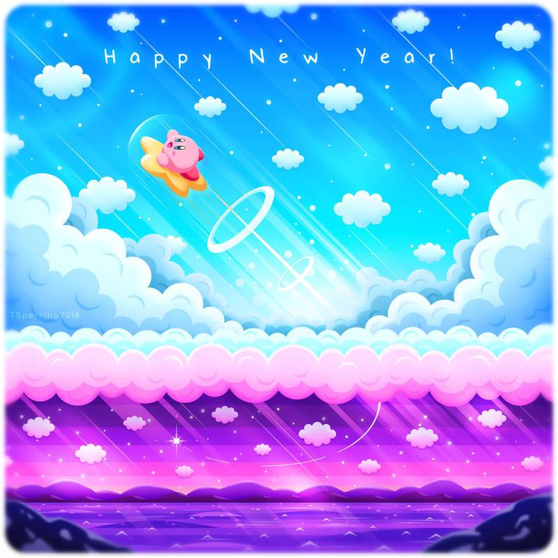 Kirby - Happy New Year! by Sleepless-Piro