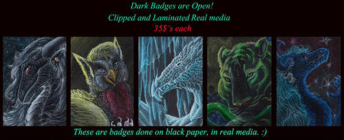 DarkBadges Open! by LeonaGold