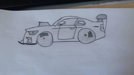 I only know how to draw a car the easy way, the o by luxstrong