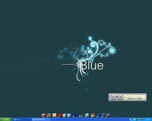 blue desk by Miheer