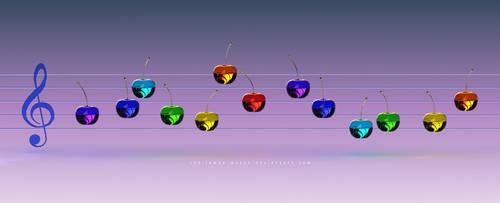 Music Rainbow Cherries by THE-LEMON-WATCH