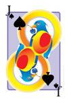 Bird Eye Glass Cherry Card by THE-LEMON-WATCH