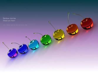 iPad third-generation - Rainbow Cherries - Wall by THE-LEMON-WATCH
