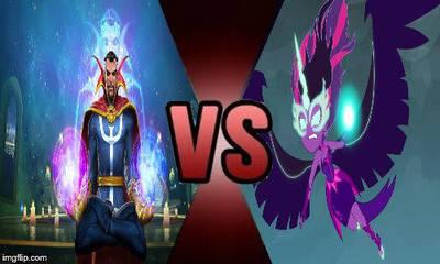 Deathbattle #2 Midnight Sparkle VS Dr. Strange by creepermin3
