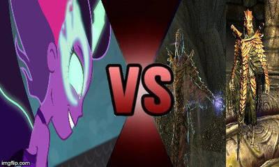 DB#5 Midnight Sparkle vs Morokei and Ahzidal by creepermin3