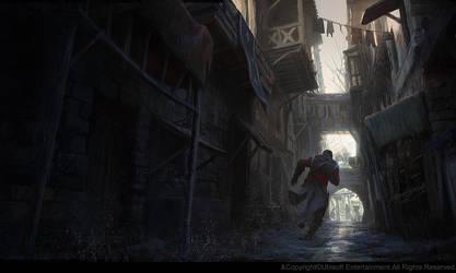 Medieval street. by gillesbeloeil