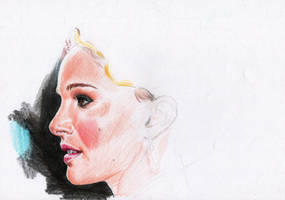 Natalie Portman Colours WIP1 by AngelinaBenedetti