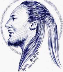 Qui-Gon Jinn Sketch Card 1 by AngelinaBenedetti