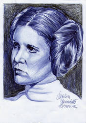 Princess Leia Organa BALLPOINT PEN by AngelinaBenedetti
