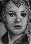 Padme Amidala - Packing Gown Sketch Card by AngelinaBenedetti