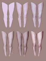 Leg Shading StepbyStep by AshantiArt