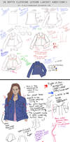 In Depth Lesson Notes - Jean Jacket diagram study by AshantiArt