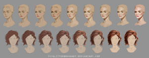 Head + Hair Steps (HQ Download Availible) by AshantiArt