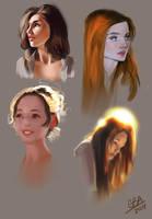 Portrait Study set by AshantiArt