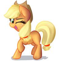 ||Redraw|| Generic Applejack Pose by Littleblackraencloud